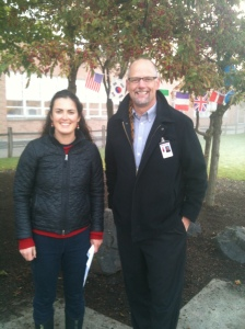 Mr. Bailey and Brooke - iWalk 2013